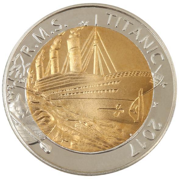 Titanic Bimetallmünze