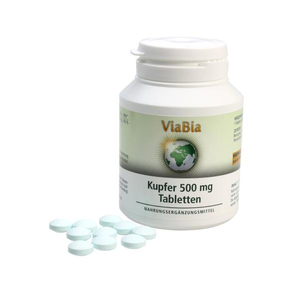 ViaBia Kupfer 500 mg Tabletten