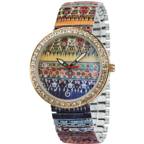 Crystal blue Uhr Hippie Style