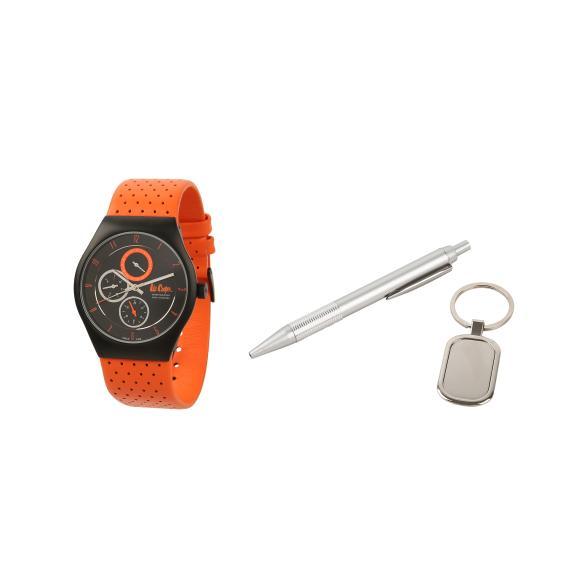 Geschenkset: Uhr ´´Derby´´, Kugeschreiber, Anhä...