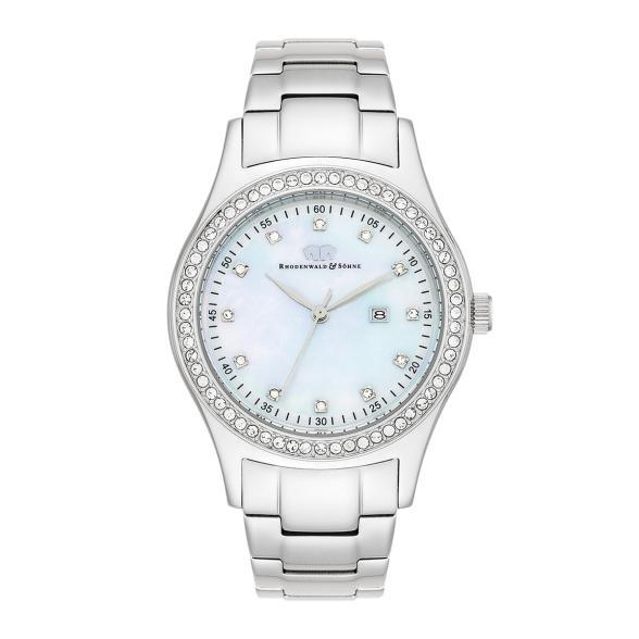 Armband- & Taschenuhren Uhren & Schmuck Nine & Company Damen Schwarz Lederband Silberfarben Wr Batterie