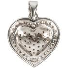 Herzanhänger 925 Sterlign Silber Diamanten - 100090600000 - 2 - 140px