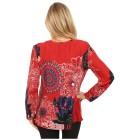 Damen-Pullover 'Pamplona' rot/multicolor 46/48 3/4XL - 100165400003 - 2 - 140px