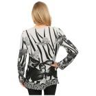 Damen-Pullover 'Almeria' weiß/schwarz 46/48 3/4XL - 100165800003 - 2 - 140px