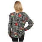 Damen-Pullover 'Oviedo' schwarz/rot 38/40 M/L - 100166300001 - 2 - 140px