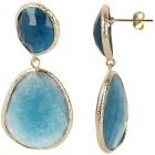 Ohrhänger Bronze Achat Achat ozeanblau - 101395100002 - 2 - 140px