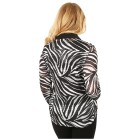 FASHION NEWS 3D-Bluse Druck Strass-Zipper Zebra 36/38 (S) - 101699500001 - 2 - 140px