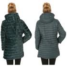 Damen-Wende-Stepp-Mantel Nylon/Webpelz grün 48/50 (57) - 101916600006 - 2 - 140px