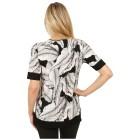 RÖSSLER SELECTION Damen-Shirt 'Amaya' schwarz/ecru   - 102291300000 - 2 - 140px