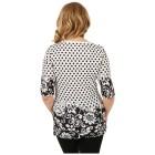 BRILLIANTSHIRTS Damen-Shirt 'Fabia' schwarz/weiß   - 102458500000 - 2 - 140px