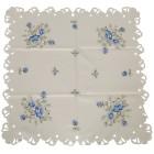 Mitteldecke blaue Rosen, 85 x 85 cm - 103237400000 - 2 - 140px