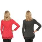 VV 2er Pack Shirt 'Thalia' chianti & schwarz   - 103554600000 - 2 - 140px