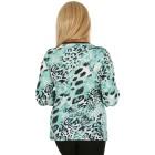 BRILLIANTSHIRTS Damen-Shirt schwarz/weiß/grün   - 103740600000 - 2 - 140px