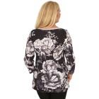 BRILLIANTSHIRTS Damen-Shirt schwarz/weiß   - 103741300000 - 2 - 140px