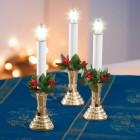 LED Weihnachtskerze 4er-Set gold mit Saugnapf - 103745600000 - 2 - 140px
