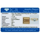 Ring 585 Gelbgold, Brillant Solitär, ca. 0,25 ct   - 104007600000 - 2 - 140px