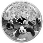 1 kg Münze Big Panda Family, vergoldet - 104012800000 - 2 - 140px