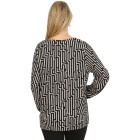 Damen-Pullover, rosa/schwarz   - 104419200000 - 2 - 140px