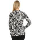 Damen-Pullover, schwarz/multicolor   - 104419600000 - 2 - 140px