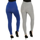 FASHION NEWS 2er Pack Leggings grau/royal   - 104469900000 - 2 - 140px