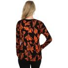 IMAGINI Damen-Pullover schwarz/orange    - 104632300000 - 2 - 140px