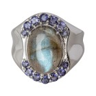 Ring 925 Sterling Silber Labradorit, Iolith   - 14981400000 - 2 - 140px