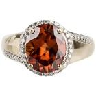 Ring 585 Gelbgold AAAZirkon orange, Diamanten Gr. 20 - 15253010303 - 2 - 140px