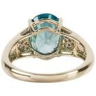 Ring 585 Gelbgold AAAZirkon blau, Diamanten Gr. 20 - 15253310303 - 3 - 140px