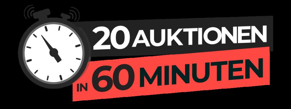 30 Auktionen in 60 Minuten